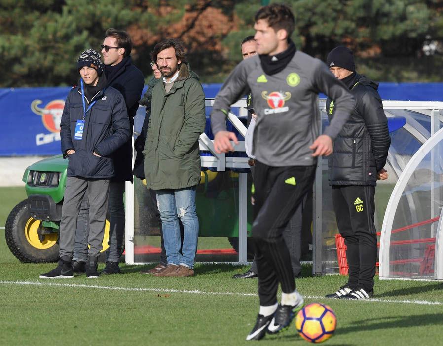 Пирло посетил тренировку «Челси», однако клуб несобирается его арендовать