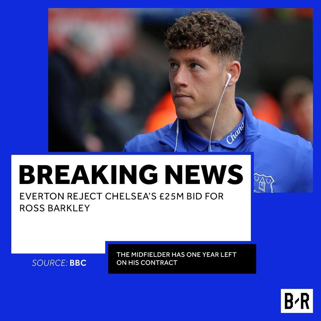 «Челси» предложил «Эвертону» 25 млн фунтов заБаркли