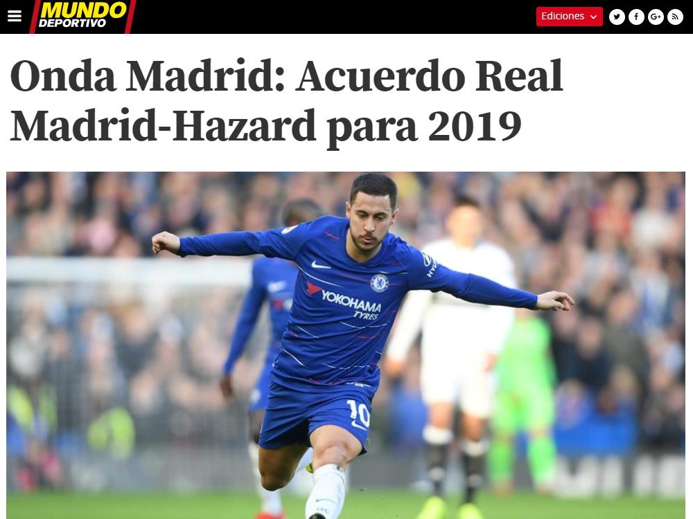 «Реал» согласовал контракт с Азаром